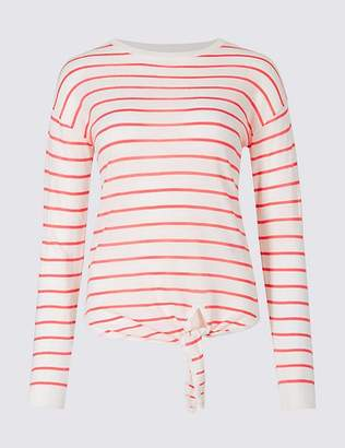 Marks and Spencer Striped Round Neck Long Sleeve Jumper