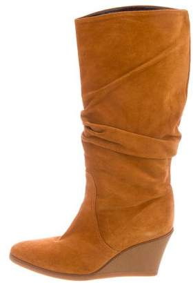 Salvatore Ferragamo Wedge Knee-High Boots