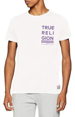 True Religion Men's Crew Shirt Worldwide White T 1700, L