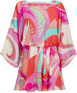 Emilio Pucci Printed Cover-Up Mini Dress