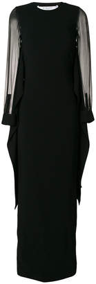 Givenchy sheer sleeve evening dress