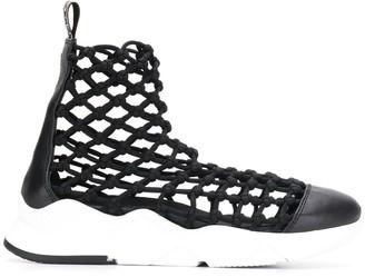 Grey Mer netted sock sneakers