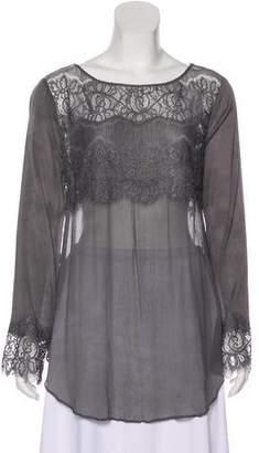 Calypso Silk Lace Accented Top