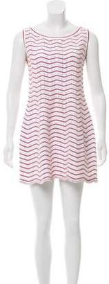 Alaia Sleeveless Eyelet Mini Dress
