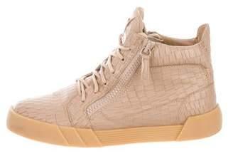Giuseppe Zanotti Round-Toe High-Top Sneakers