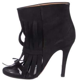 Maison Margiela Nubuck Ankle Booties Black Nubuck Ankle Booties