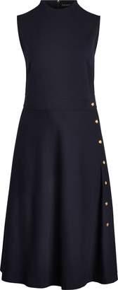 Ralph Lauren Button-Trim Ponte Dress