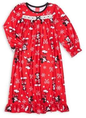 AME Sleepwear Little Girl's Mickey Mouse-Print Nightgown