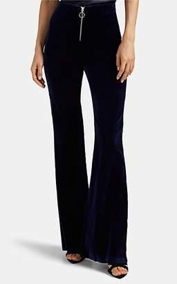 Maison di Prima Women's Cotton Velvet Flared Trousers - Blue