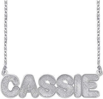 JCPenney FINE JEWELRY Personalized Sterling Silver Bold Name Necklace