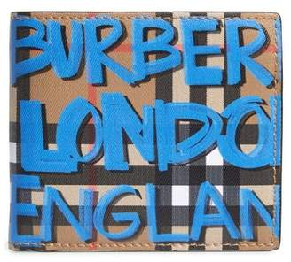 Burberry Graffiti Print Leather Wallet