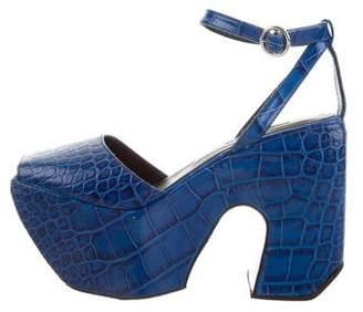 Marques Almeida Marques'Almeida Multistrap Platform Sandals