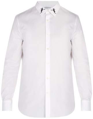 Alexander McQueen Dancing Skeleton-embroidered cotton shirt