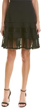 Jason Wu Crinkled Chiffon Mini Silk-Lined Skirt