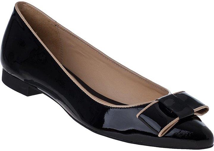 KATE SPADE Elise Ballet Flat Black Patent