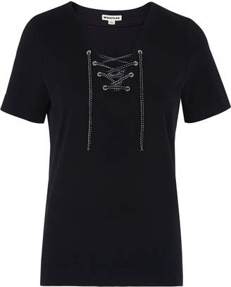 Whistles Lace Up Front Tee
