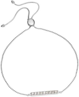 Lola Rose London - Curio Bar Slider Bracelet Natural White Zircon