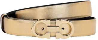 Salvatore Ferragamo 25mm Reversible Metallic Leather Belt