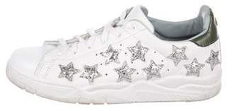 Chiara Ferragni Leather Star Low-Top Sneakers