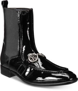 Roberto Cavalli Men's Patent Moc-Toe Boots Men's Shoes