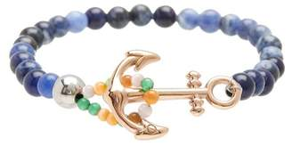 Cat Eye Jean Claude Sodalite & Stone Anchor Beaded Bracelet
