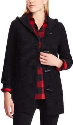 Chaps Women's Rib-Knit Toggle Cardigan