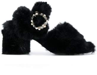Suecomma Bonnie faux-fur sandals