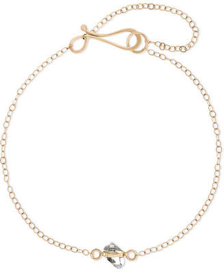Melissa Joy Manning 14-karat Gold Herkimer Diamond Bracelet