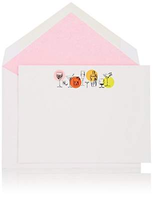 Connor Cocktail Parade Notecard Set - White