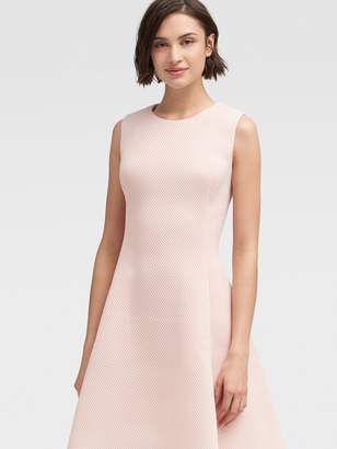 DKNY Mesh Fit-and-flare Dress