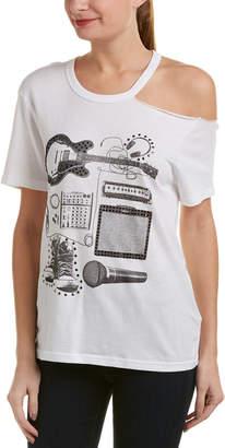 True Religion Asymmetrical Cold-Shoulder T-Shirt