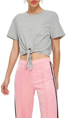 Topshop Knot Front T-Shirt
