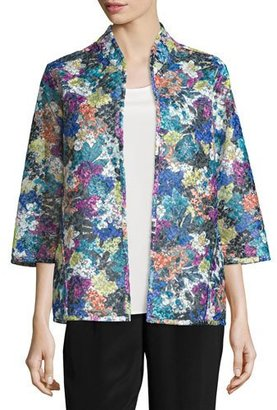 Caroline Rose Embroidered Easy-Fit Organza Jacket $325 thestylecure.com