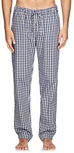 Hanro Men's Night & Day Plaid Cotton Lounge Pants - Blue