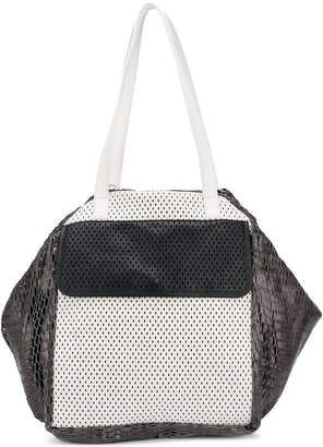 Carmina Campus oversized colour-block tote