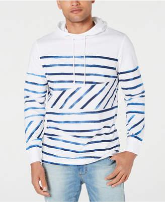 American Rag Men Fragmented Striped Hoodie