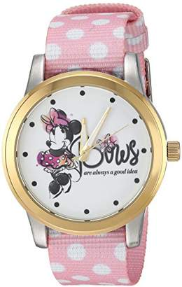 Disney Women's Minnie Mouse' Quartz Metal and Nylon Casual Watch