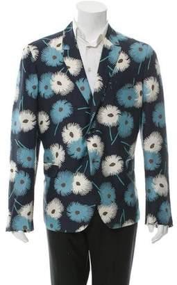 Valentino Floral Print Silk Blazer w/ Tags