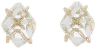 Melissa Joy Manning Gold Herkimer Diamond Stud Earrings