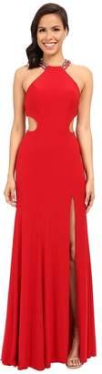 Faviana Jersey Scoop Neck w/ Beaded Back Detail 7543 Women's Dress