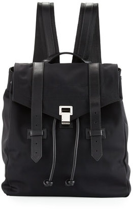 Proenza Schouler PS1 Nylon Backpack w/Leather Trim, Black $1,495 thestylecure.com
