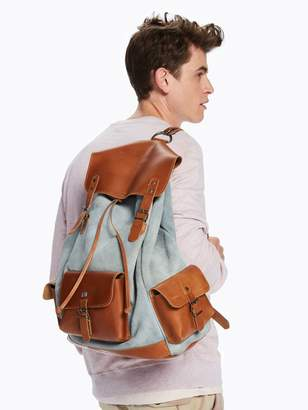Scotch & Soda Suede & Leather Backpack