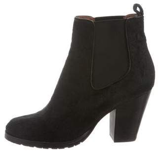 Frye Ponyhair Round-Toe Ankle Boots