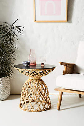Anthropologie Crosshatched Side Table