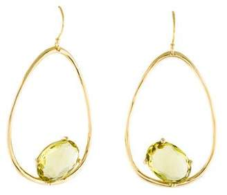 Ippolita 18K Quartz Rock Candy Wire Oval Drop Earrings