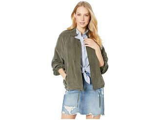 Drawstring bomber jacket shopstyle
