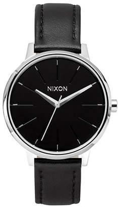 Nixon Analog Kensington Stainless Steel Leather Strap Watch