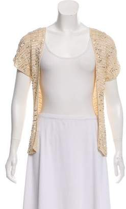 Miguelina Sequin Short Sleeves Cardigan