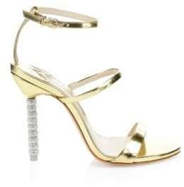 Sophia Webster Women's Rosalind Crystal High-Heel Sandals - Gold - Size 35 (5)