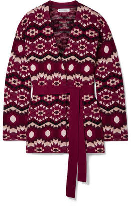 Altuzarra Clearwater Reversible Fair Isle Cashmere Cardigan - Purple